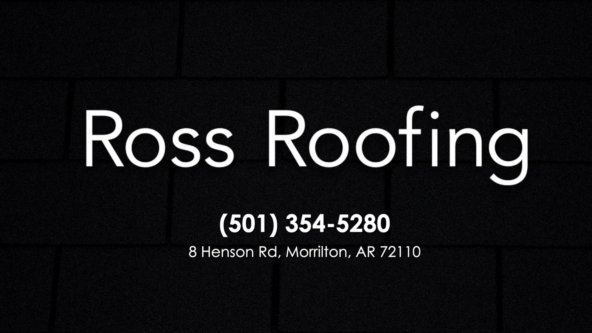 Roofing Company In Morrilton Ar Ross Roofing Llc